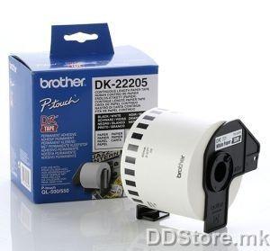 DK22205 Continuous Paper Tape 62mm  x 30.48m