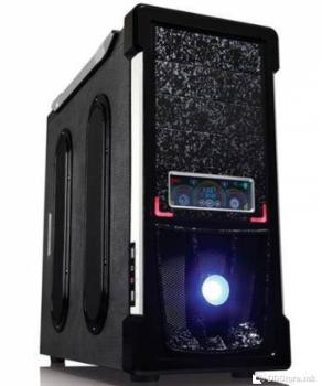 Aresze Logo 9100B, Color Box, 4*12CM LED+1*12CM Black  Color fan, full black cases