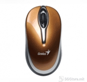 Genius Traveler 900, Wireless 2.4GHz, optical mouse, turbo scroll, 1600 dpi, Gold