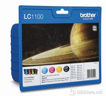 Brother Value Pack LC1100VALBP (BK/C/M/Y) Site Kertridzi, for MFC5895CW/6490CW/DCP6690CW/6890CDW/MFCJ615W/DCPJ715W