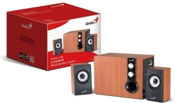 Genius SW-HF2.1 1205, 32W, wood speakers + subwoofer, Stylish diamond texture on satellite speakers