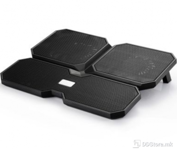 """DeepCool Multi Core X6 up to 15.6"""" Metal Mesh Black Notebook Stand/Cooler"""