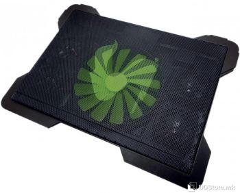 """Omega Chilly up to 15.6""""/16cm Fan/4 USB ports/Black Notebook Stand"""
