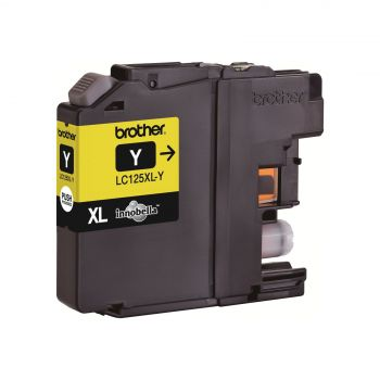 Brother Cartridge LC125XLY Yellow (up to 1200pgs), for DCP-J4110, MFC-J4410/J4510/J4610/J4711, MFC-J6520DW/J6920DW