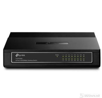 TP-Link TL-SF1016D 16-port 10/100Mbps mini Desktop Switch, plastic case
