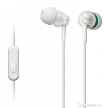 SONY MDREX110APW.CE7, Step-Up EX Series Earbud Headset, white