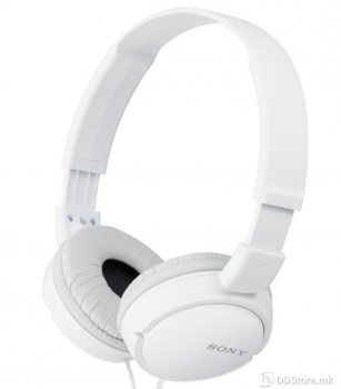 SONY MDRZX110W.AE, ZX series Foldable Over the ear Headphones, white