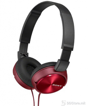 SONY MDRZX310R.AE, ZX series Foldable Over the ear Headphones, red