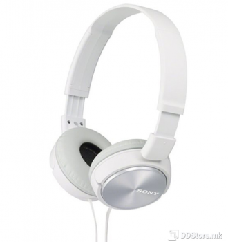 SONY MDRZX310W.AE, ZX series Foldable Over the ear Headphones, white