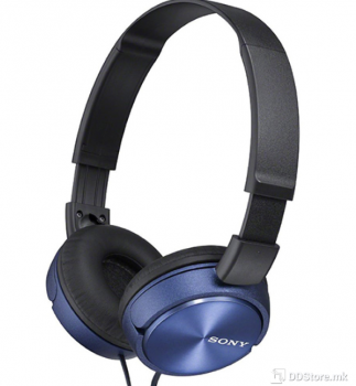 SONY MDRZX310L.AE, ZX series Foldable Over the ear Headphones, blue