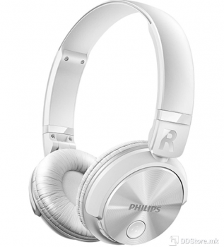 Philips SHB3060WT/00, Bluetooth stereo headset, white