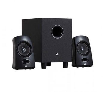 Power Box Q1-EV 2.1 Channel speaker, Black, R.M.S: 9.5W(4.5W+2.5W*2), P.M.P.O: 170W, Colour box packing
