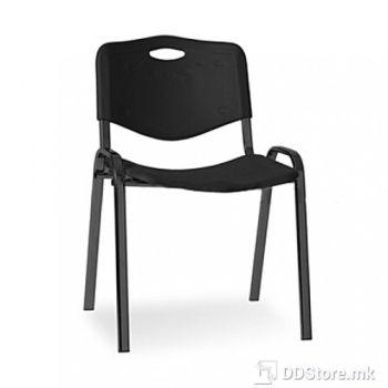 Office Chair NOWY STYL Посетителски стол ISO PLASTIC BLACK