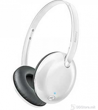 Philips SHB4405WT/00 Bluetooth stereo headset, Ultra compact, White,
