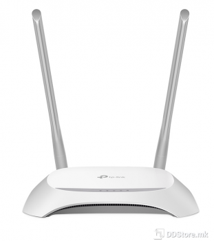 TP-Link TL-WR840N 300Mbps Wireless N Router, Atheros, 2T2R, 2.4GHz, 802.11n Draft 2.0, 802.11g/b, Built-in 4-port Switch, with 2 intern