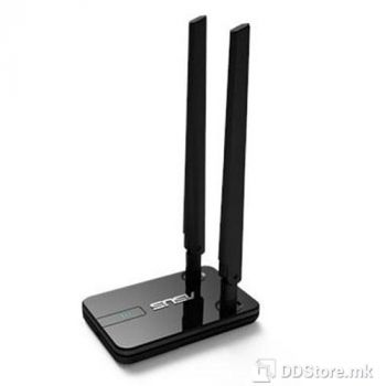 ASUS Wireless USB 2.0 USB-N14 card 802.11n, Dual detachable 5dBi high-gain antenna supports up to 10x signal coverage, N300 complete ne