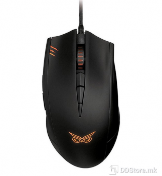 ASUS Strix Claw Dark Edition right-handed ergonomic optical gaming mouse