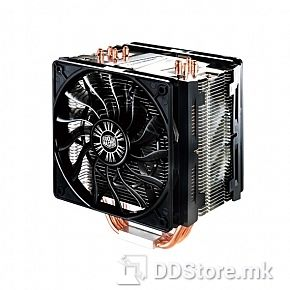Cooler Master Hyper 412R Universal incl. Intel and AMD, affordable, compact and high performance air cooler, 4 CDC heatpipes, 92mm 600-