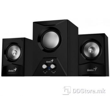 Genius SW-2.1 385, Wooden speaker with subwoofer, RMS power: RMS (W) Subwoofer: 8 W, Satellites: 3.5 W x 2, Black Color