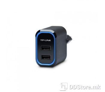 TP-Link UP220, 20W 2-Port USB Charger, 2 USB charging ports, 5V/2.4A per port, total 5V/4.0A, EU standard power plug
