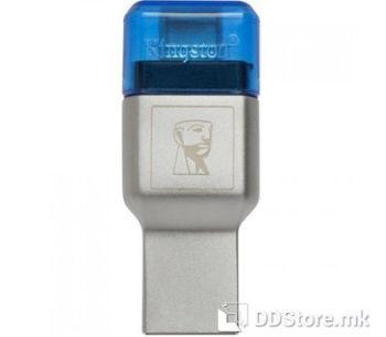 Kingston MobileLite DUO 3C USB3.1+TypeC microSDHC/SDXC Card Reader, FCR-ML3C