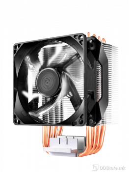 Cooler Master Hyper H411R, Tower, 92mm white LED fan, 600-2000RPM PWM, 4 x 6mm heat pipes, RR-H411-20PW-R1