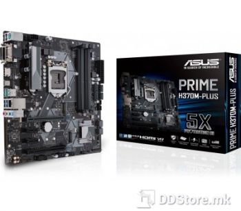 ASUS PRIME H370M-PLUS, Intel® Socket 1151 for 8th Generation Core™ Processors, Chipset: Intel® H370, Memory: 4 x DIMM, Max. 64GB, DDR4