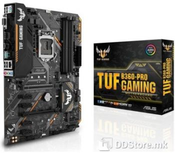 ASUS TUF B360-PRO GAMING, Intel® Socket 1151 for 8th Generation Core™ Processors, Chipset: Intel® B360, Memory: 4 x DIMM, Max. 64GB, DD