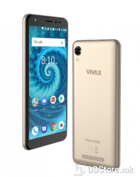 """Vivax Point X502 gold, 5,34"""", IPS, 480*960, Quad-Core, 16GB, RAM 2GB, Android 8.1, 3G, 5MP, 2MP"""