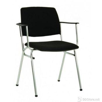 Office Chair NOWY STYL Посетителски стол Isit Arm black C (платно)