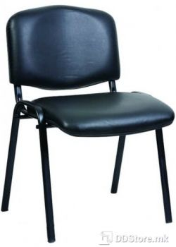Office Chair NOWY STYL Посетителски стол Iso black V (еко кожа)