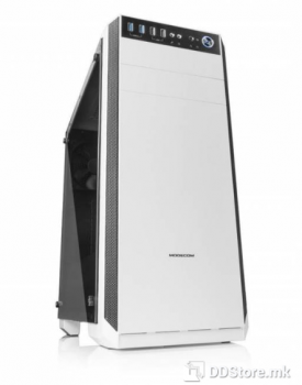 MODECOM OBERON PRO GLASS WHITE CASE, construction for demanding gamers
