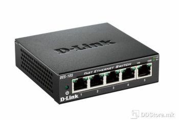 D-LINK DES-105/E, 5-Port Fast Ethernet Metal Housing Unmanaged Switch