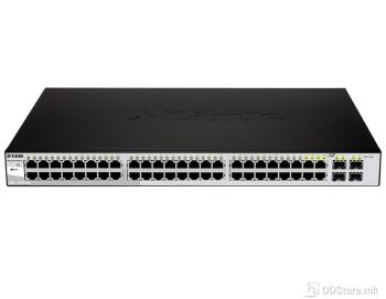 D-LINK DGS-1210-48, 48-port Gigabit Smart Switch incl.4 Combo 1000BaseT/SFP