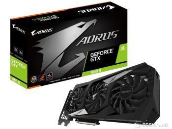 Gigabyte GeForce™ GTX 1660 Ti AORUS 6GB GDDR5 HDMI/3xDP DX12 RGB WINDFORCE 3X