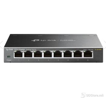 TP-Link TL-SG108S 8-port Desktop Gigabit Switch, 8 10/100/1000M RJ45 ports, steel case