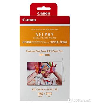 Canon RP-108 Ink/Paper Set Postcard Size - 108 Prints #8568B001
