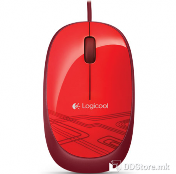 Logitech M105 Corded Optical Mouse Red, 910-002942