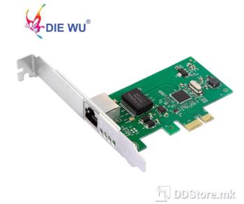 DIEWU TXA015 diskless, Chipset: Intel 82574, LP NET LAN PCIe 10/100/1000Mbs