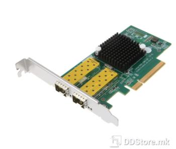 DIEWU TXA037, Chipset: Intel 82599EM, LP NET LAN PCIe SFP dual  port 10G