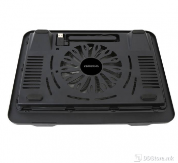 "Omega Breeze up to 15.6""/14cm Fan/USB port/Black Notebook Stand"