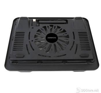 "Omega Wind up to 15.6""/14cm Fan/USB port/Black Notebook Stand"