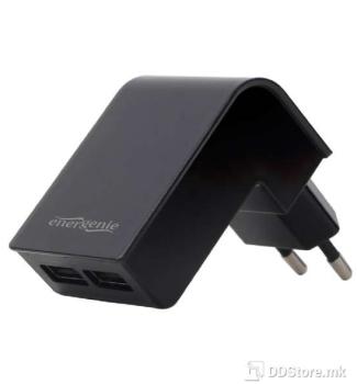 EnerGenie USB Universal Power Charger 2.1A Energenie Dual Socket Black 02