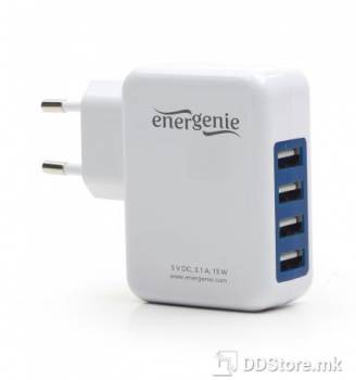 EnerGenie 4-Port for Smartphones and Tablets USB Charging Station 3.1A