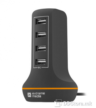 Natec Extreme 4 Port Tower 6A USB Universal Power Charger