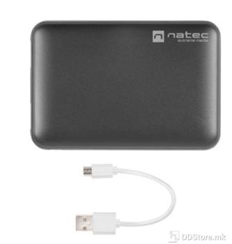 Natec Extreme Trevi 5000mAh Dual USB + Type-C Black Power Bank