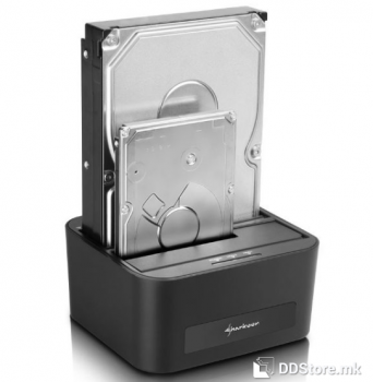 """Sharkoon SATA QuickPort XT Duo Clone for 2.5"""" and 3.5"""" HDD USB 3.0 Docking Station"""
