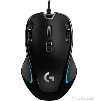 Logitech Gaming G300S w/9 Programmable Controls Black/Blue 910-004349