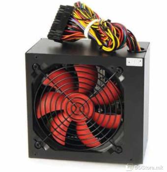 Mission-Q 500W PSU + cable, black, 12cm red fan