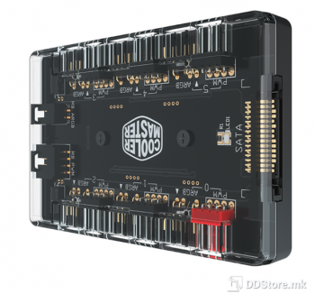 CoolerMaster MASTERFAN ARGB And PWM HUB, Multi Connection
